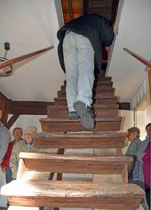 Bauzeitliche Treppe