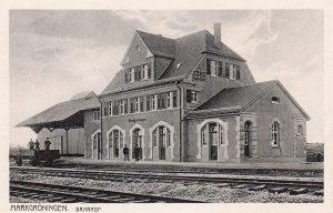 Postkarte Bahnhof MG
