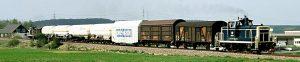Güterzug mit Doppeltraktion