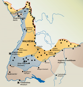 Karte Römer in Baden-Württemberg