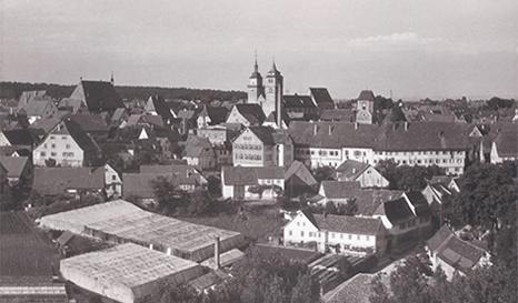 Stadt um 1966 von SW