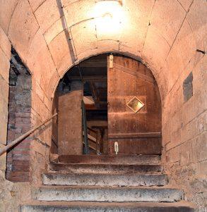 Gewölbe über Kellertreppe