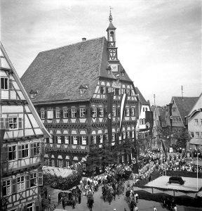 Marktplatz um 1940