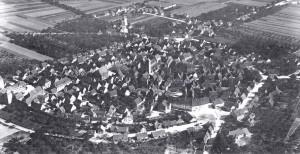 Luftbild 1924 von Südwesten