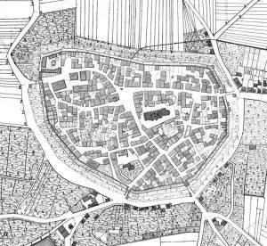 Stadtplan Markgröningen 1831/32 retuschiert
