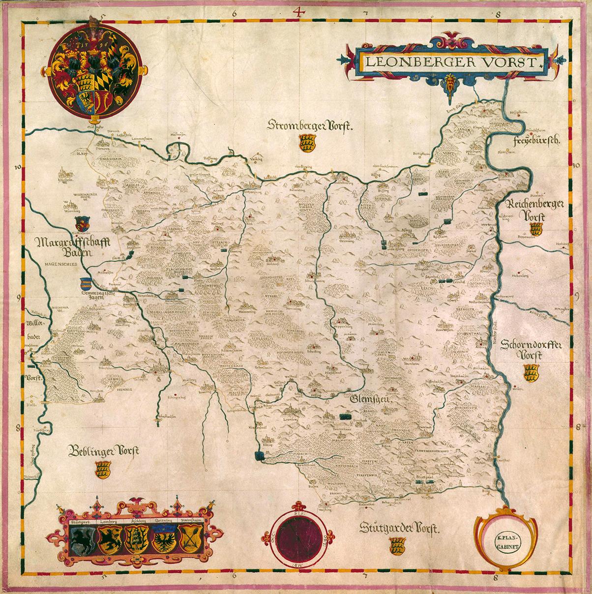 Gadnersche Forstkarte Leonberg 1590