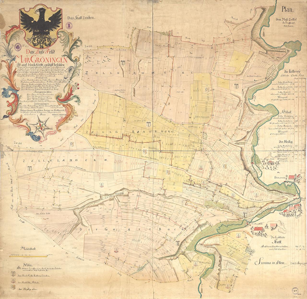 Aussfeld von MarGroeningen 1752