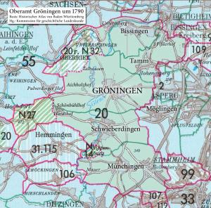 Oberamt Gröningen 1790