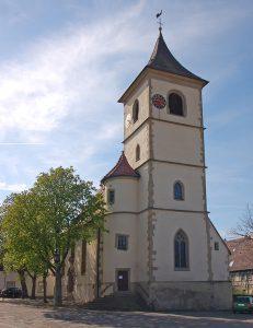 Dorfkirche Unterriexingen. Bild: P. Fendrich