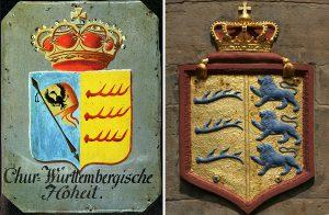 Herzschilde ab 1803 und ab 1806