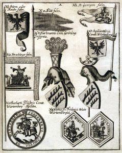Fahne und Wappen 1695
