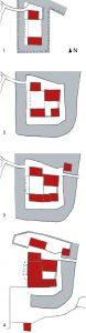 Entwicklungsstadien Schloss UR
