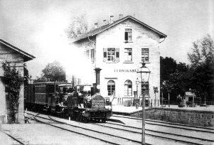 Bahnhof Ludwigsburg um 1860