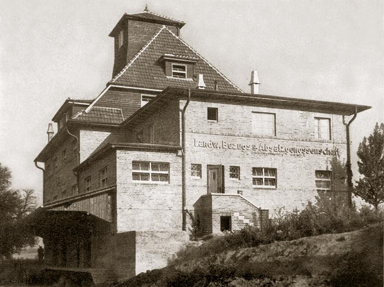 Hofseite des LABAG-Lagerhauses