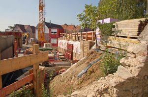 Baugrube am Spitalgarten