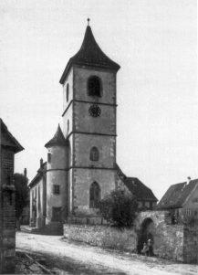 Dorfkirche Unterriexingen vor 1940