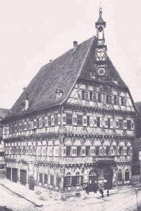 Rathaus MG um 1900