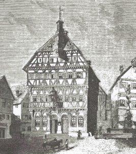 Rathaus Markgröningen 1866