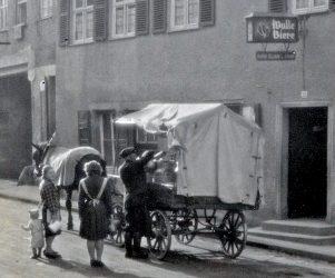 Milchmann um 1950