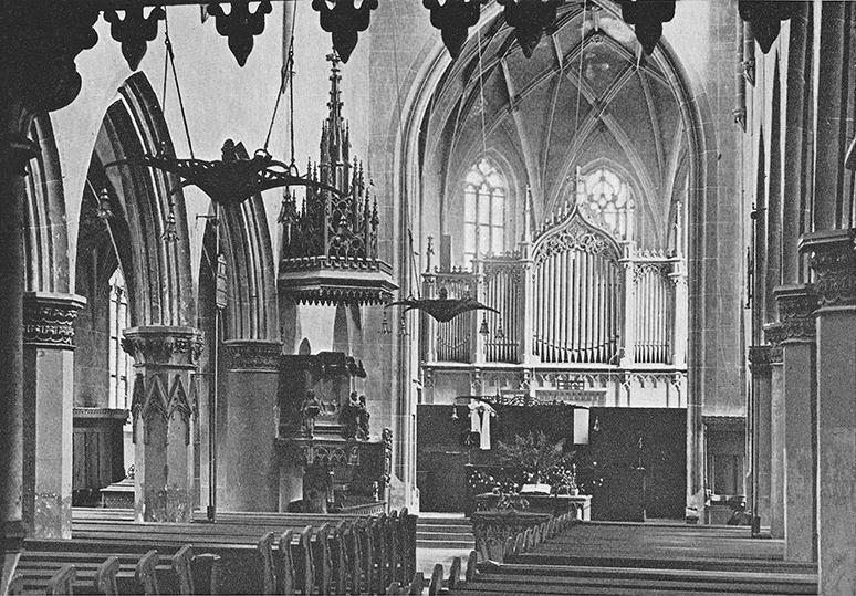 Bartholomäuskirche vor 1956 innen