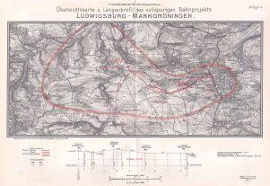 Karte der Bahnstrecke von 1911