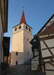 Kirchturm und Gaden in Weissach
