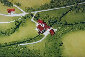 Modell der Oberen Mühle