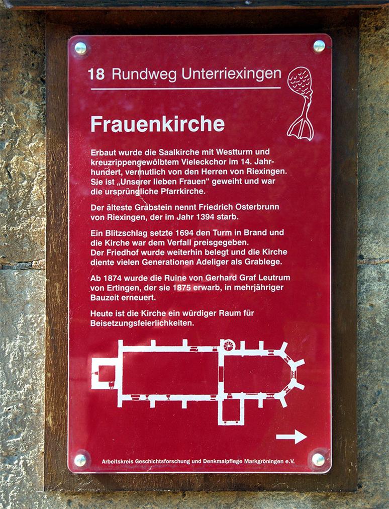 Rundweg-Schild Frauenkirche