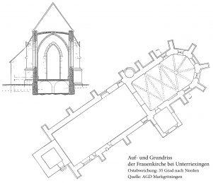 Auf- und Grundriss Frauenkirche