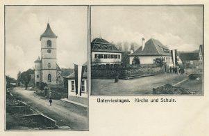 Kirche und Schule um 1914