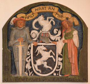Wappen in Loge