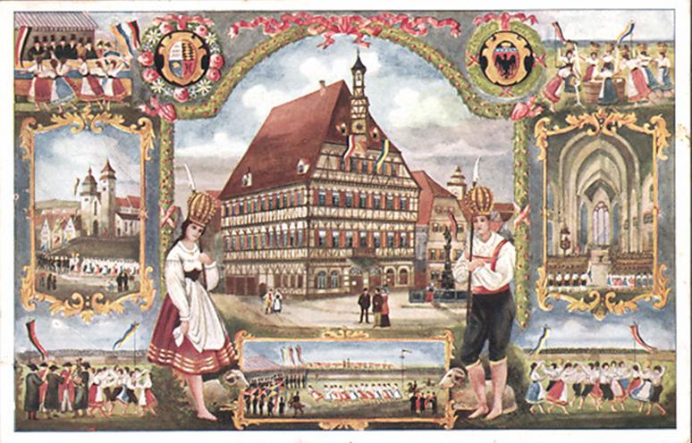 Schäferlauf-Postkarte um 1900