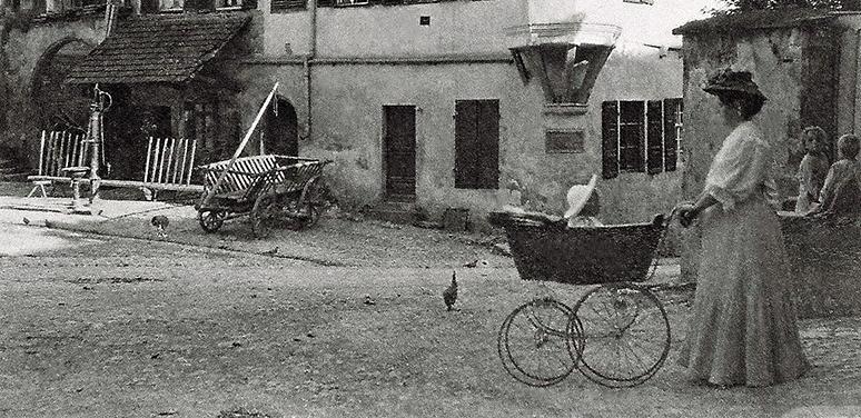 1910 Kinderwagen Leiterwagen