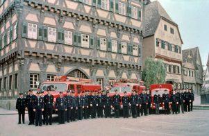Feuerwehr auf Marktplatz