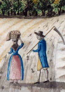 Frau mit Korb