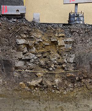 Aufschluss Stadtmauer