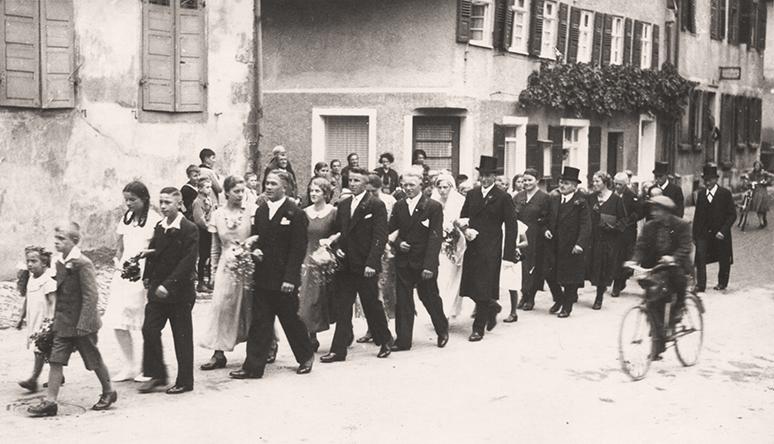 Hochzeitszug Ostergasse 1934