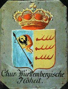 Chur-Württ. Hoheitstafel