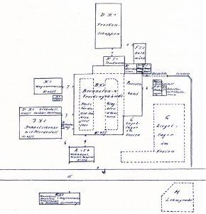 Ziegelei Lageplan 1929