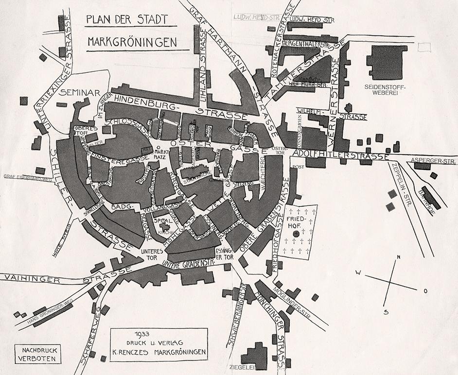 Stadtplan 1933