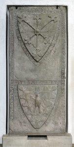 Grabplatte Albrecht II. von Hohenberg
