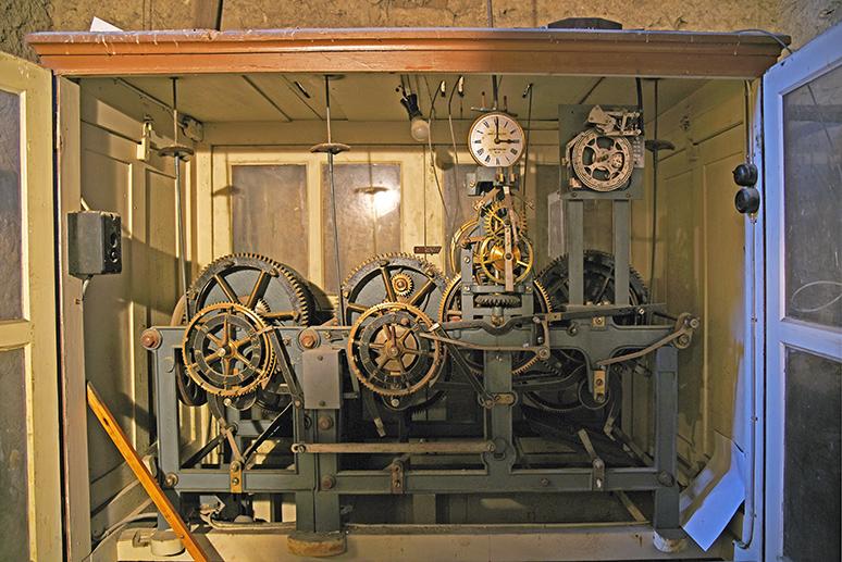 Uhrwerk im Glockenturm