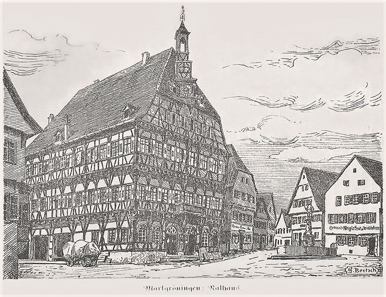 Rathaus um 1900