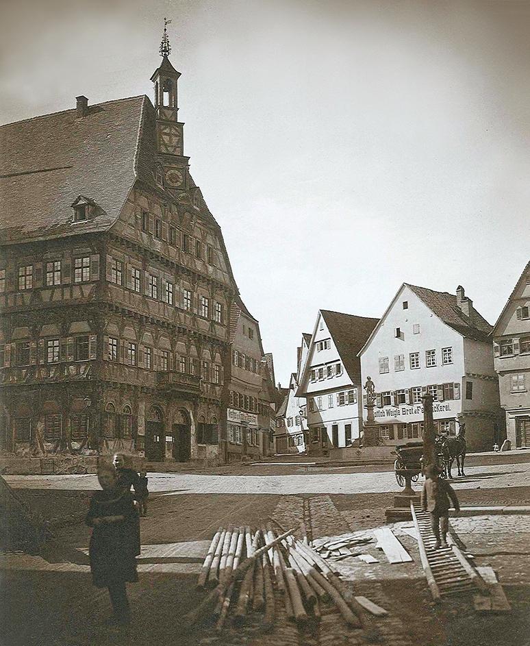 Marktplatz um 1905