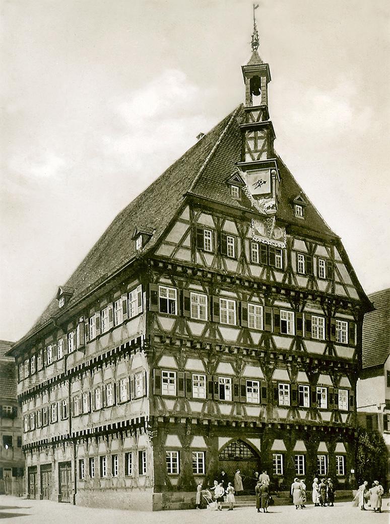 Rathaus 1959 von Südosten