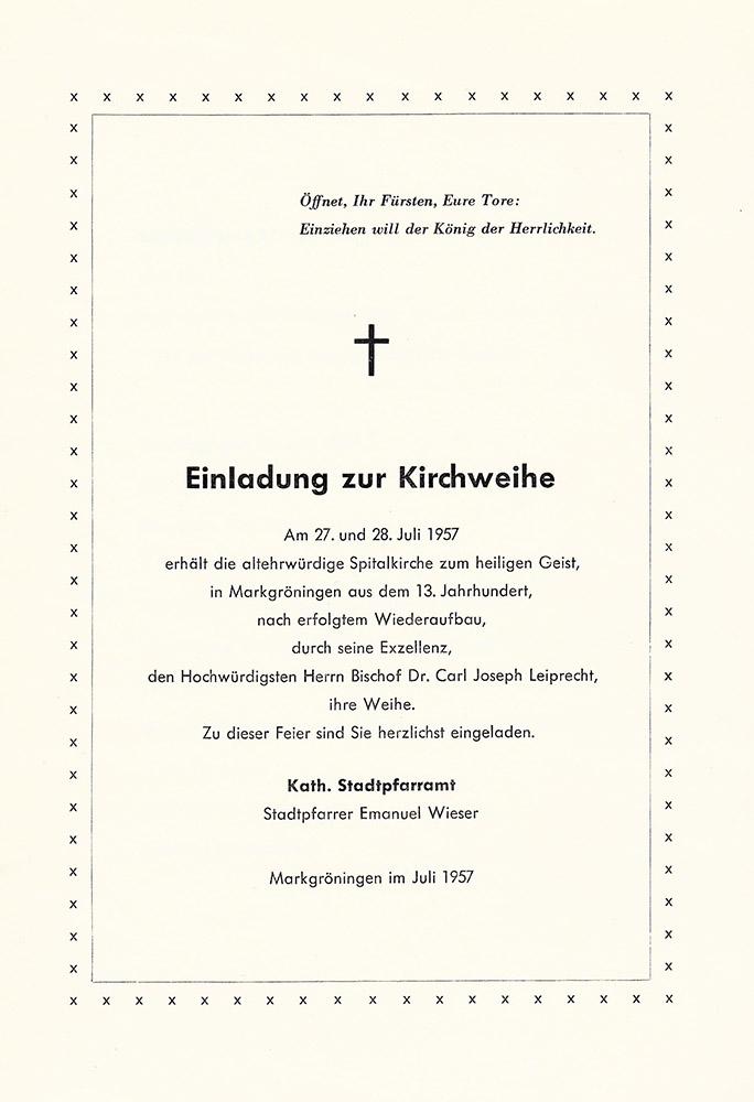 Einladung Kirchweihe