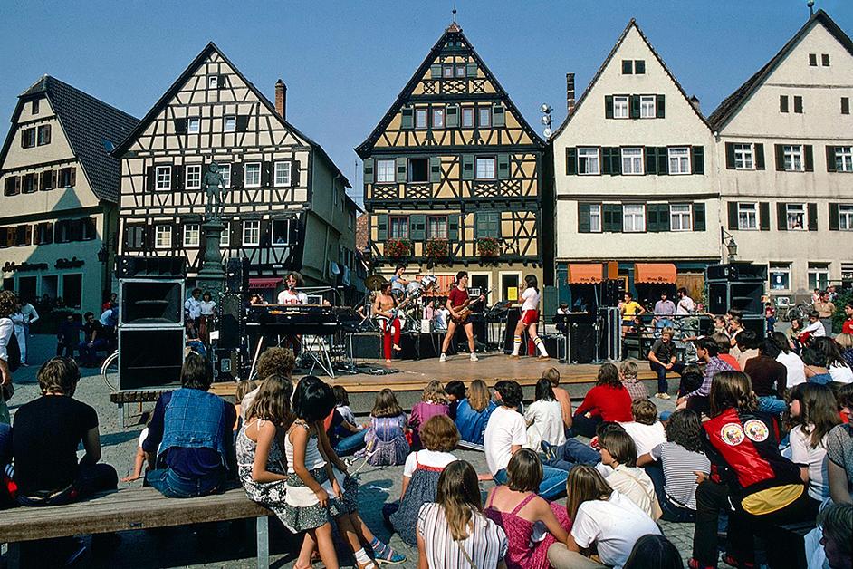 Rock auf dem Marktplatz
