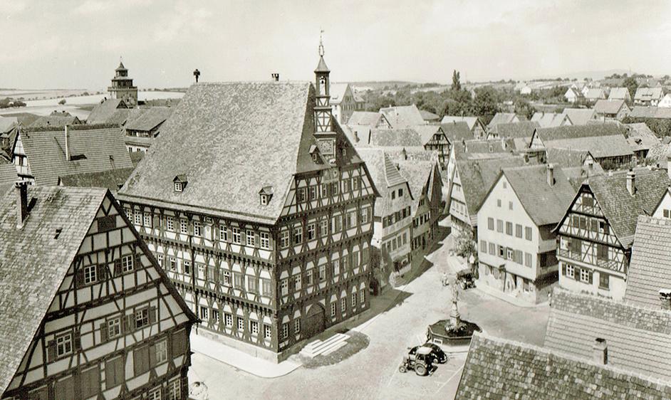Marktplatz um 1958