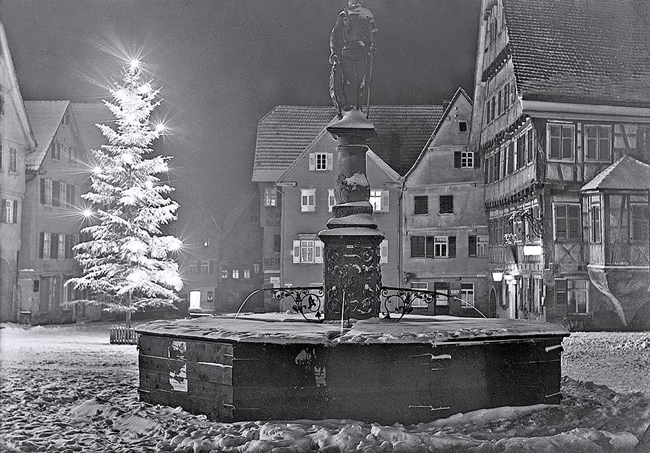 Marktplatz im Schnee