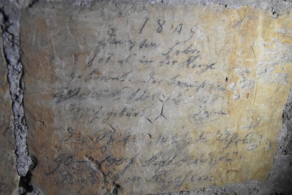 Bauinschrift von 1849